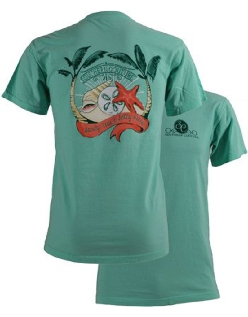 Southern Couture Southern Couture Short Sleeve Sandy Toes Tee