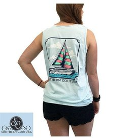 Southern Couture SC Tank- Sailboat