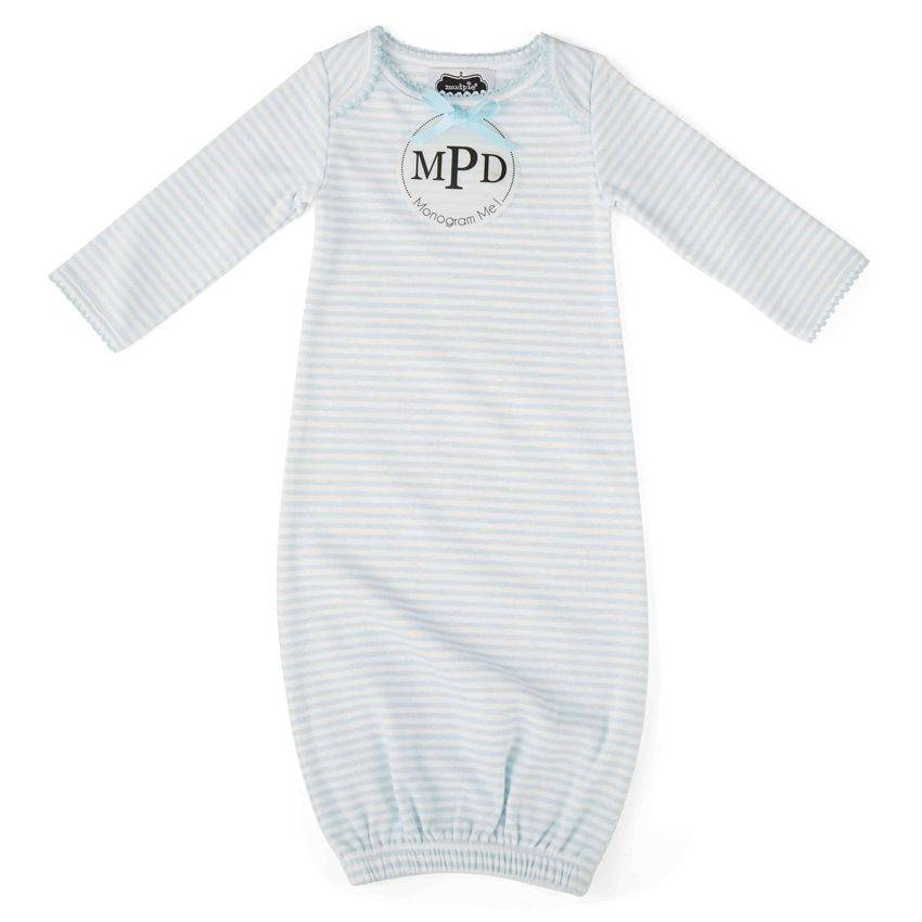 Mud Pie Mud Pie Monogram Me Blue Sleep Gown