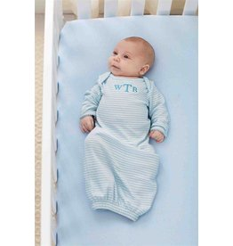 Mud Pie MP Monogram Me Blue Sleep Gown
