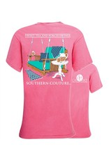 Southern Couture Southern Couture Shot Sleeve Tee- Porch Swings Tee