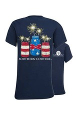 Southern Couture Southern Couture Youth Short Sleeve Tee- Mason Jar Sparklers