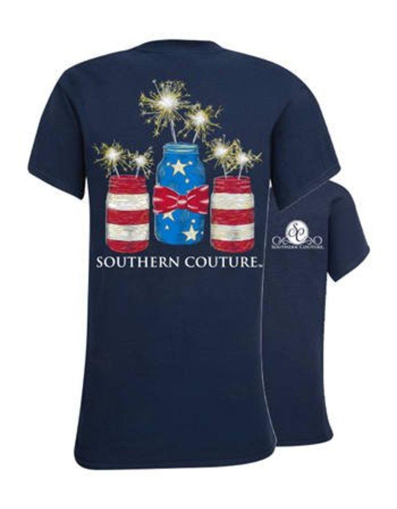 Southern Couture Southern Couture Short Sleeve Tee- Mason Jar Sparklers
