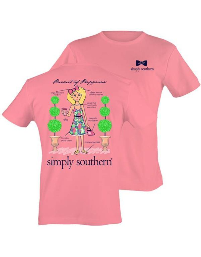 SS Simply Southern Short Sleeve Tee- Ginger