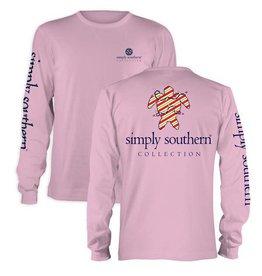 SS Simply Southern Yth L/S Tee- Xmas Trtle