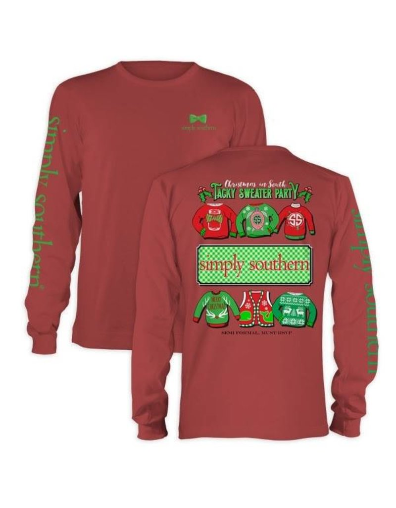 SS Simply Southern L/S Tee- Tacky