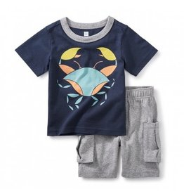 tea collection Little Crab Baby Outfit