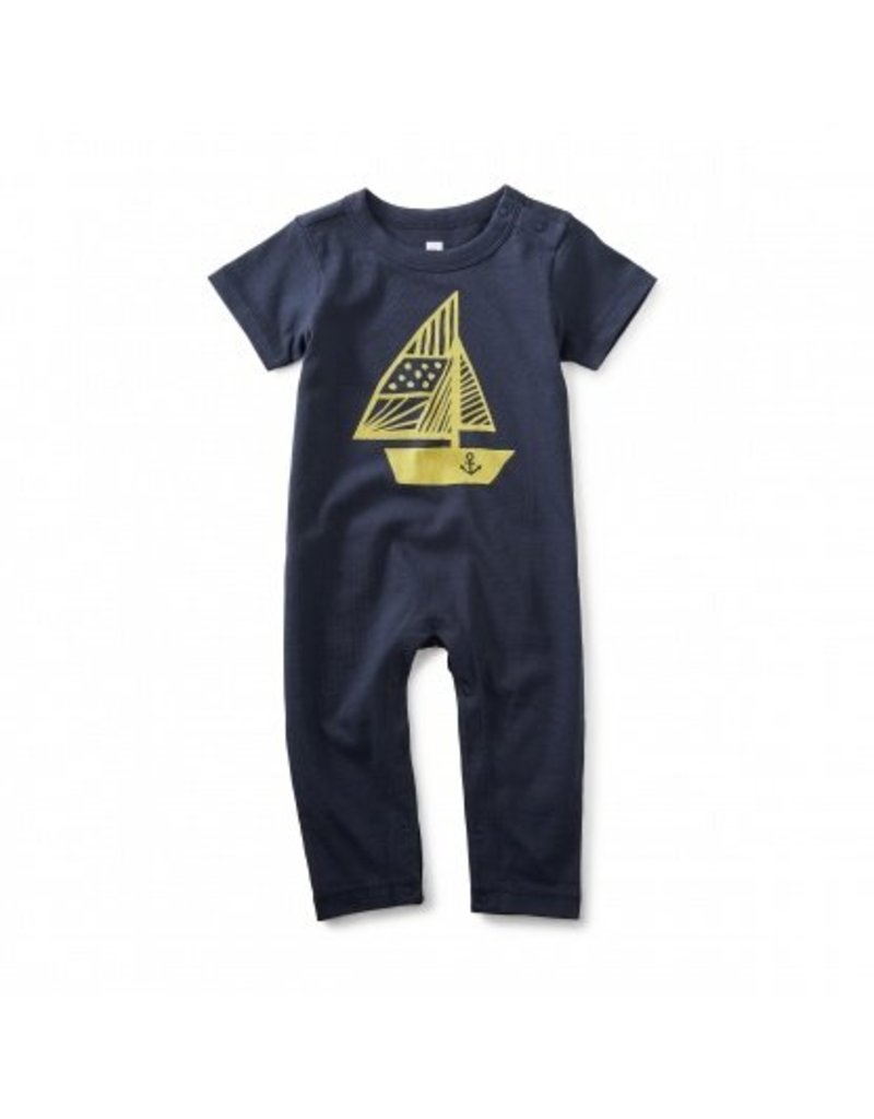 tea collection Tea Collection Hey Sailor Graphic Romper