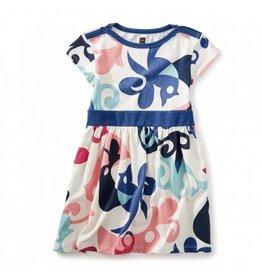 tea collection Tweet Cap Sleeve Dress