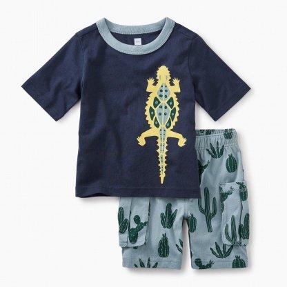 tea collection Desert Lizard Baby Outfit
