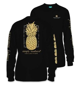 SS Simply Southern L/S Tee- Pineapple