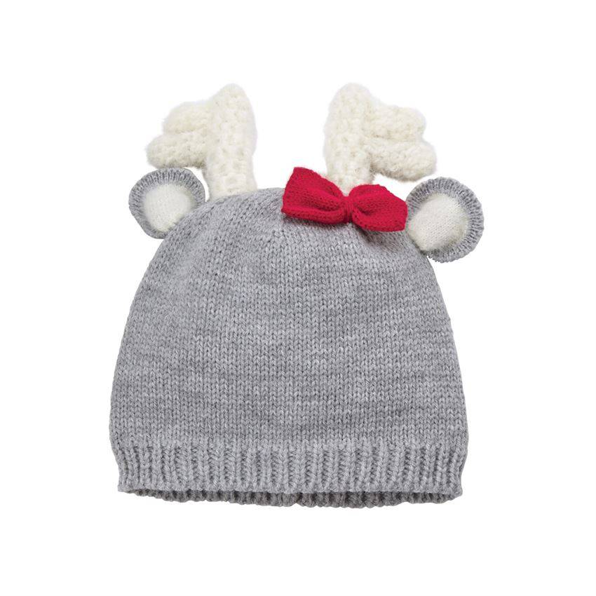 Mudpie Deer Bow Knitted Hat