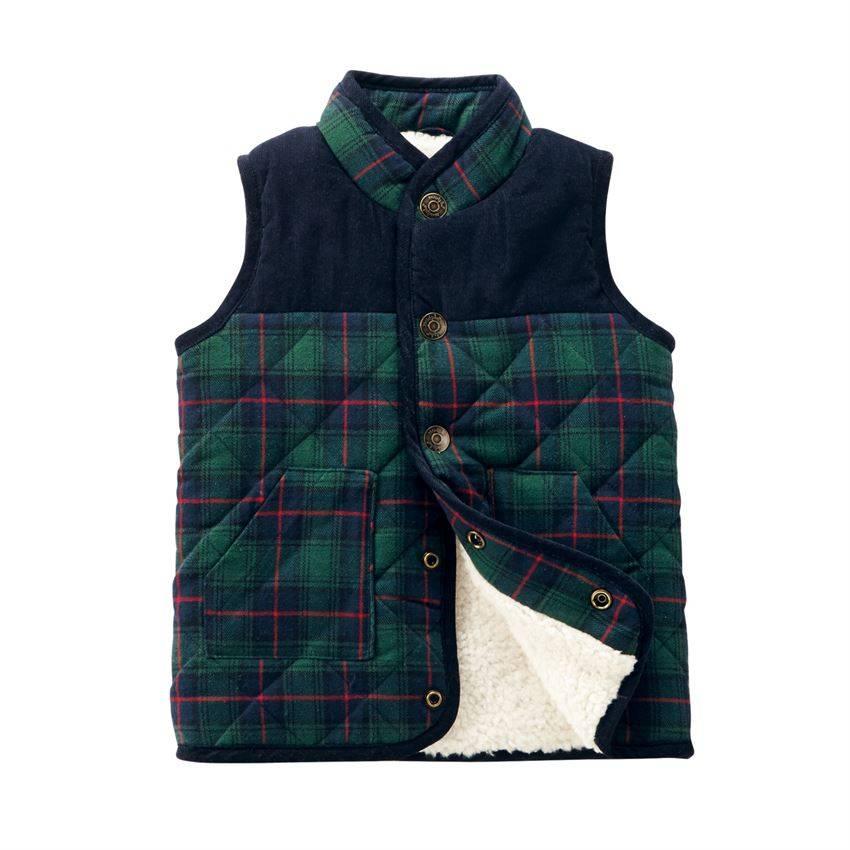 Mudpie Blackwatch Plaid Sherpa Vest
