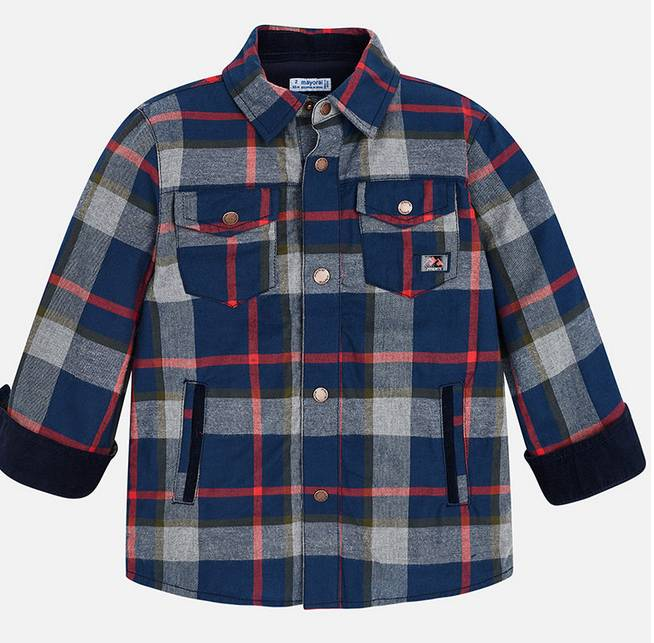 Mayoral Apricot Lined Overshirt
