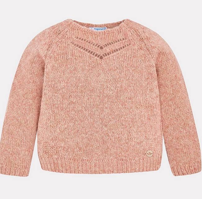 Mayoral Gloss Sweater Blush