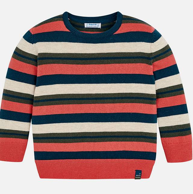 Mayoral Apricot Stripes Sweater