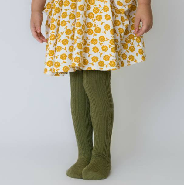 Little Stocking Company Olive Tights