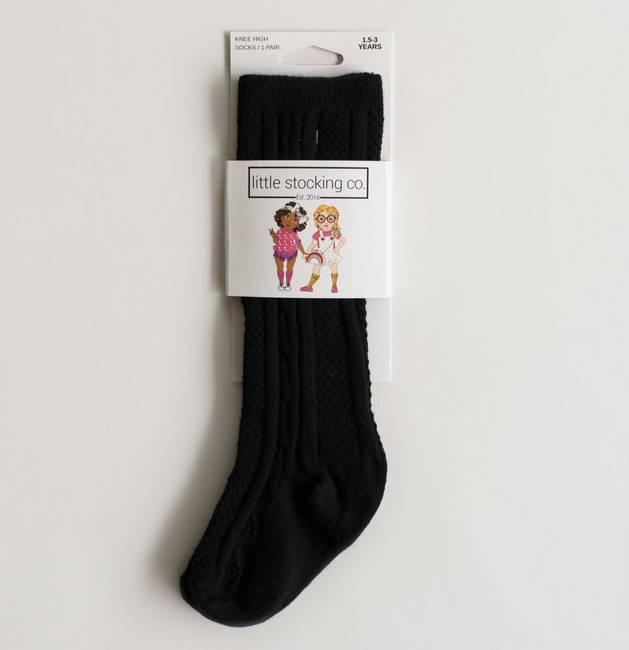 Little Stocking Company Black Knee High Socks