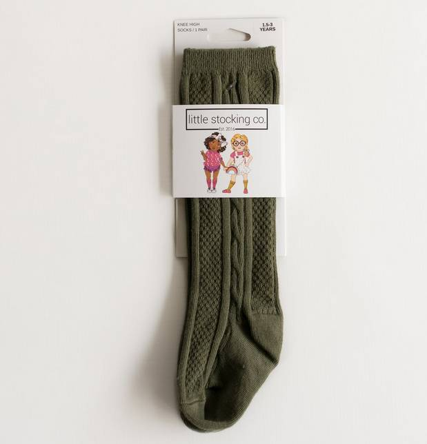 Little Stocking Company Olive Knee High Socks