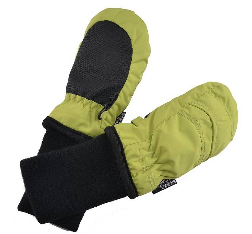 SnowStoppers SnowStoppers Thumbless Mittens Lime Green