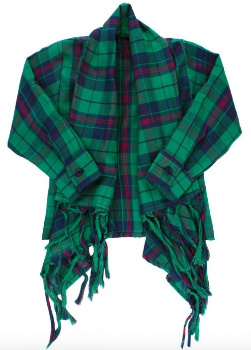 Ruffle Butts Micah Plaid Drape Cardigan
