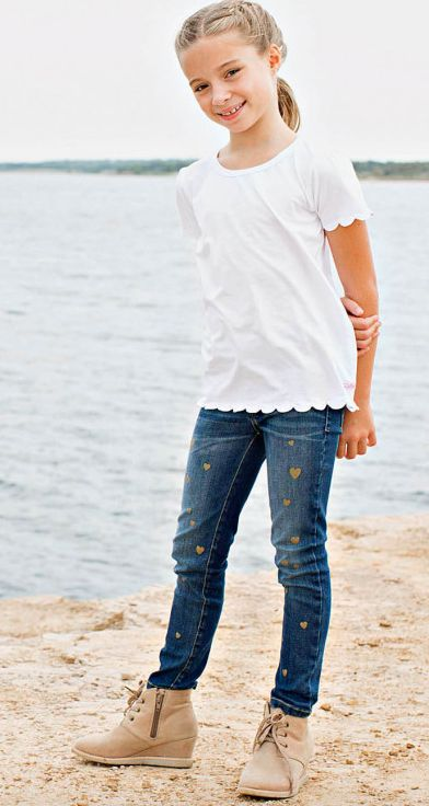 Ruffle Butts White Scallop Tee