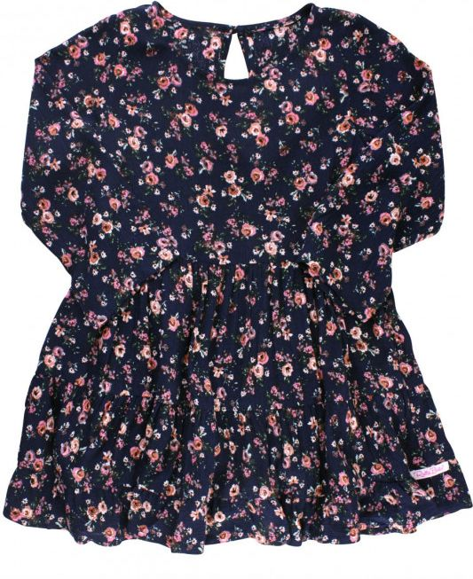 Ruffle Butts Floral Tiered Ruffle Dress