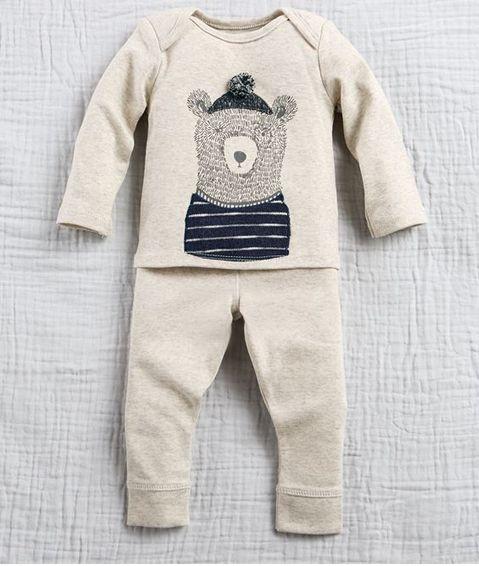 Mudpie Bear Pant Set