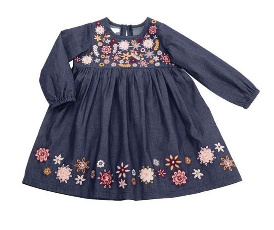 Mudpie Chambray Embroidery Dress
