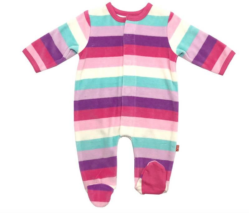 Magnificent Baby Shortcake Stripe Footie