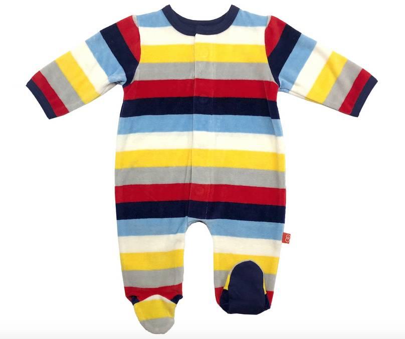 Magnificent Baby Starburst Stripe Footie