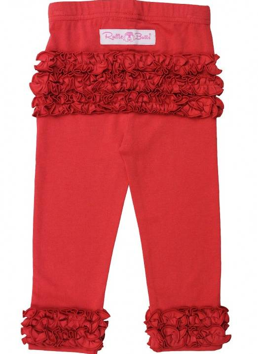 Ruffle Butts Red Ruffle Leggings