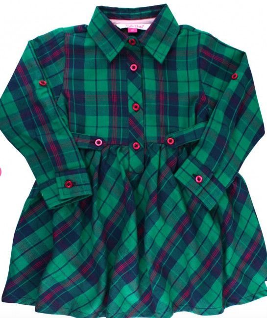 Ruffle Butts Micah Plaid Babydoll Dress