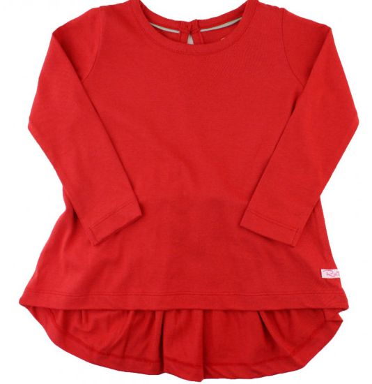 Ruffle Butts Red Bow-Back Top