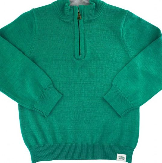 Ruffle Butts Emerald Quater-Zip Sweater