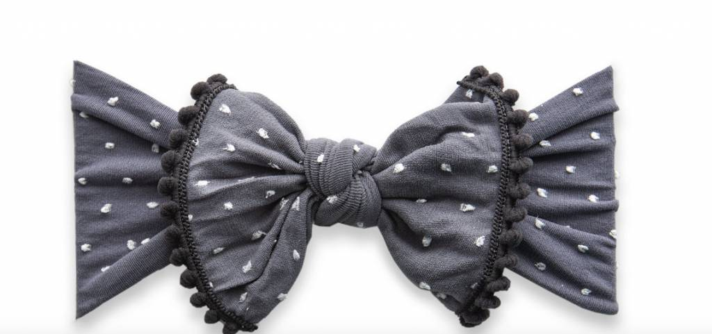 Baby Bling Trimmed Patterned Knot Storm Dot