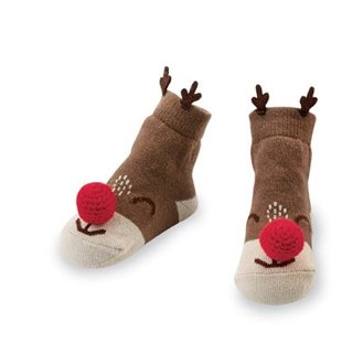 Mudpie Christmas Rattle Sock