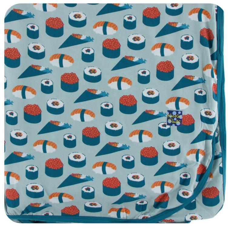 Kickee Pants Jade Sushi Swaddling Blanket