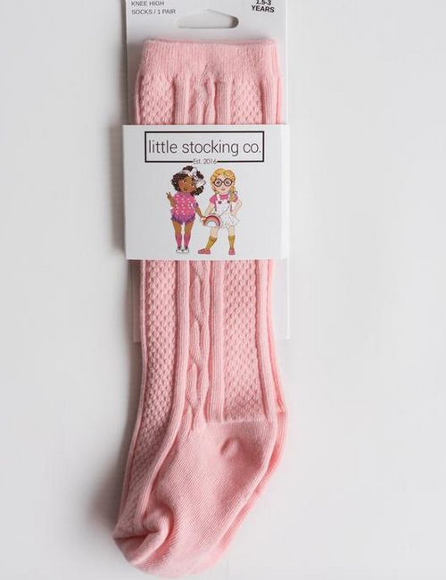 Little Stocking Company Powder Pink Knee High Socks