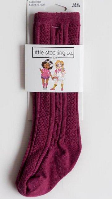 35c6f747346 Little Stocking Company Maroon Knee High Socks