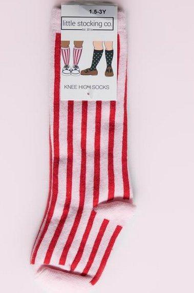 Little Stocking Company Candy Stripe Knee High Socks