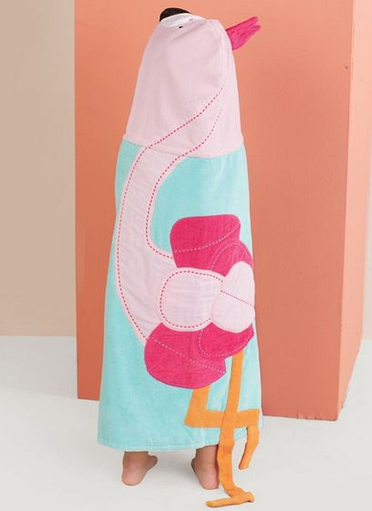 Mudpie Flamingo Hooded Towel