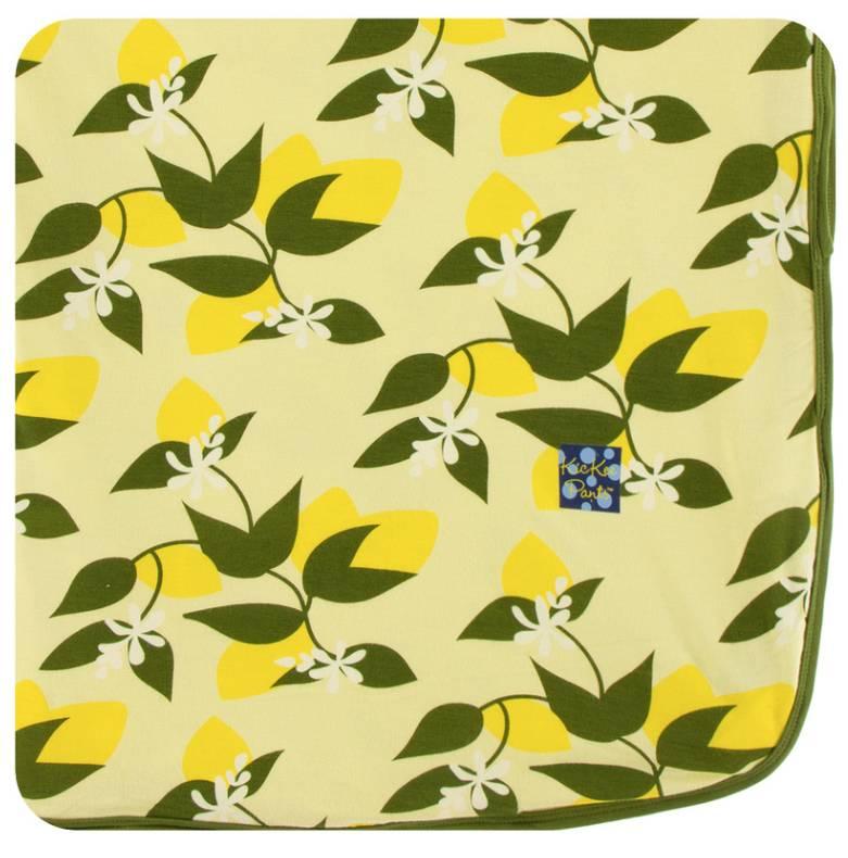 Kickee Pants Lime Blossom Lemon Tree Swaddle