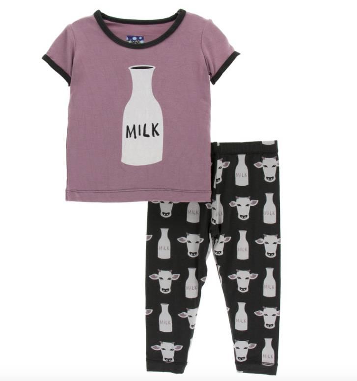 Kickee Pants Zebra Tuscan Cow PJ Set