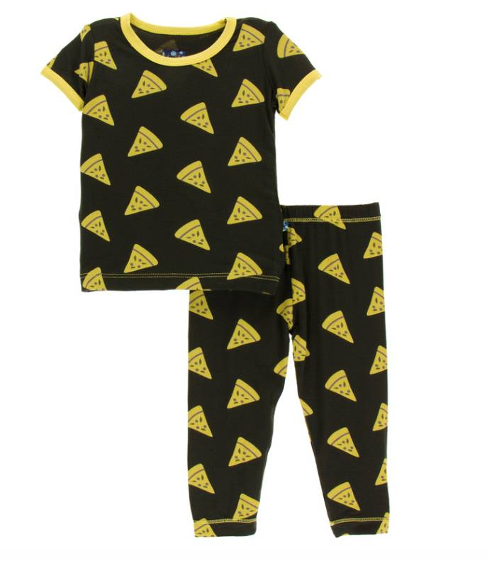 Kickee Pants Zebra Pizza Pajama Set