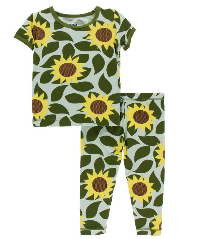 Kickee Pants Aloe Sunflower Pajama Set