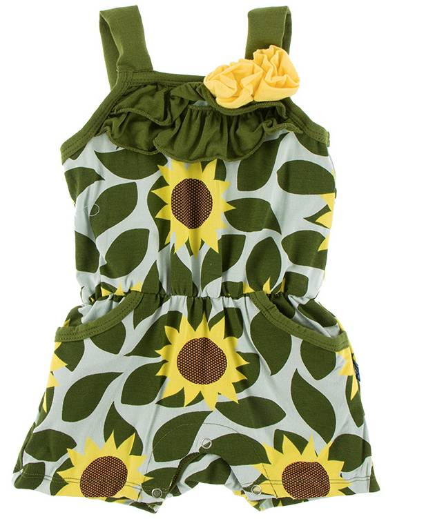 Kickee Pants Aloe Sunflower Romper