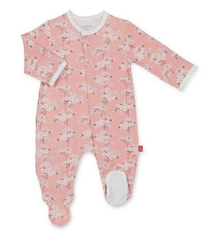 Magnificent Baby Cherry Blossom Magnetic Footie