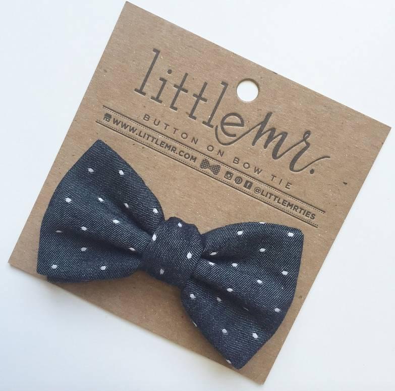 Little Mister Midnight Polka Dot Bow Tie