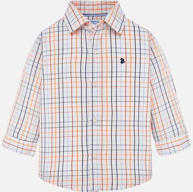 Mayoral Blue Checked Shirt L/S